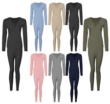 Womens Ladies Lace Up Ribbed Knitted Long Sleeve Top Legging Bottom Loungewear