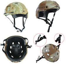 Fast Base Jump BJ Airsoft Paintball Tactical Camo Protective Adjustable Helmet