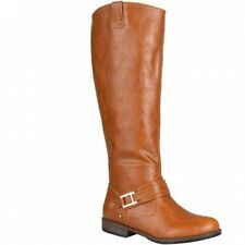 Brinley Co. Womens Round Toe Buckle Detail Boots. Huge Saving