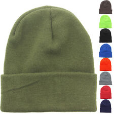 Military Watch Cap Acrylic Cold Weather Knit Skull Cap Cuff Ribbed Winter Beanie