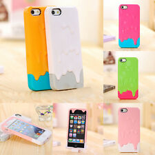 Protector For Apple iPhone 4S 5S 3D Melt Ice Cream Back Case Cover Hard Snap On