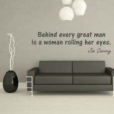 GREAT MAN WOMAN ROLLING EYES decal wall art sticker quote transfer graphic DAQ33