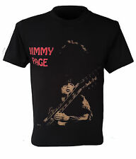 Jimmy Page T-shirt, classic rock, Led Zeppelin, printed T, retro, size S to XXL