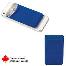 Elastic Lycra Cell Phone Wallet Case Credit ID Card Holder with 3M Adhesive