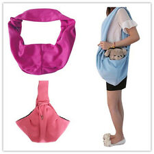 Reversible Pet Dog Cat Puppy Sling Single Shoulder Carrier Bag Tote Purse Pouch