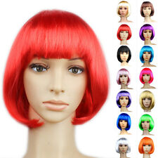 Sexy Womens Short Hair Bob Cut Full Wig Anime Cosplay Fancy Dress Costume Party