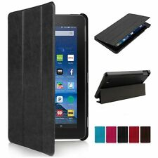 Folio Slim Stand PU Case Cover Fr Amazon Kindle New Fire 7'' HD 7 8 10 2015 2016