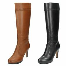 Ladies Clarks Knee High Boots Karob Slice