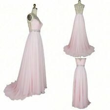 Long Chiffon A-line Evening Dress Bridesmaids Formal Dresses Floor-Length Fast