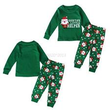 2-8Y Baby Girls Boys Christmas Sleepwear Pajamas 2pcs Outfits Nightwear Set UK