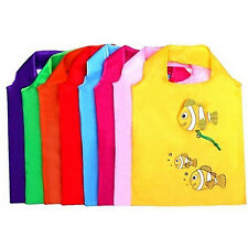 NEW Reusable Fish Folding Shopping Bag Grocery Bags Shopper ToteTravel Bag MD