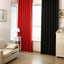 Panel Solid Lined Thermal Blackout Grommet Window Curtain Blinds Drape Precious