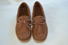 GENUINE MOOSE HIDE LEATHER SHOES DRIVING MOCCASINS WOMENS SIZE 5 VERY SUPPLE