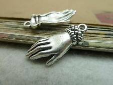 15PCS 12x26mm ancient silver alloy lovely delicate hand Beautiful pendant