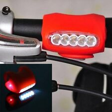 7 LED Black HOT Cycling Bike Bicycle Black Silicone Warning Rear Front Light