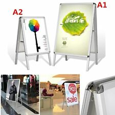 Pavement Sign Poster Advertising Shop Board Display Stand Water Resistant--A1/A2
