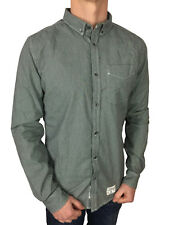 SALE £40 /Superdry Mens Pantechicon Oxford L/S Black Dogtooth Shirt in Size XXL