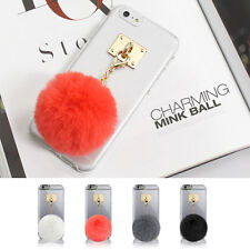 Mink Ball Charm Clear Transparent Hard Skin Case Cover for iPhone 6/6S/7/Plus