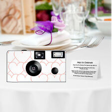 20 Red Hearts Disposable Cameras-PERSONALIZE-wedding camera/anniversary