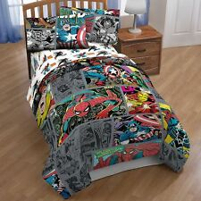Marvel Comics Spider-Man Reversible Twin/Full Comforter with Sheet Set (2 Sizes)