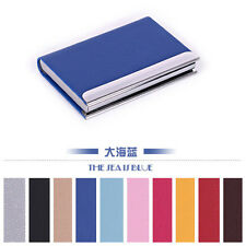 HOT Practical beautiful Leather Business Credit ID Card Holder Cases Wallet