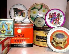 VINTAGE QUALITY STREET  & OTHER TINS 1950/90 ~ click HERE to browse or order