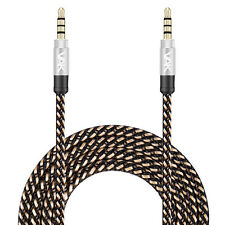 3.5mm Jack Plug To Plug  AUX Cable Premium Auxiliary Audio Cable Nylon Braided