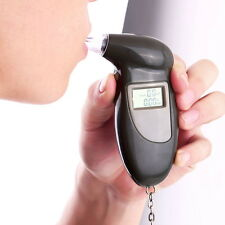 Digital Alcohol Breath Tester Breathalyzer Analyzer Detector Test Keychain NEWL2
