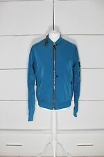 Stone Island Shadow Project Hollowcore Metal Bomber Jacket Blue