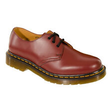 Dr Martens 1461 Leather 3 Hole Eyelet Classic Unisex Red Cherry Smooth Shoes