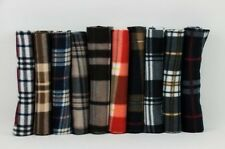 Men's Scarf Winter Fleece Fleece Scarf Checked 10 Designs