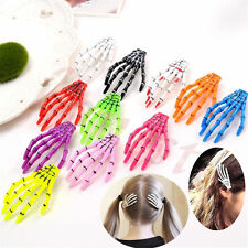 2/5/10pcs Halloween Party Zombie Skull Skeleton Hand Bone claw Hairpin Hair Clip