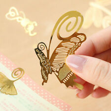 1PC Fashion Gold Metal Paper Clip Classical Style Bookmarks Reading Craft Gift