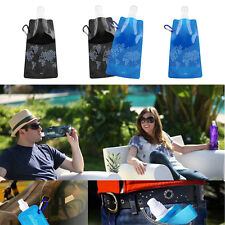 New Fashion Flexible Collapsible Foldable Reusable Sport Water Bottles Hiking