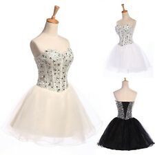 TUTU CORSET Beaded Prom Short Mini Ball Gowns Wedding Formal Evening Party Dress