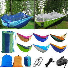 Outdoor Patio Camping Travel Hanging Hammock Fabric Mosquito Net Swing Chair Bed