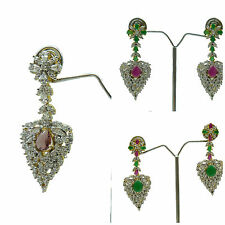 Indian Ethnic Designer Gold Plated Jewelry New Asian/American Diamond Earrings