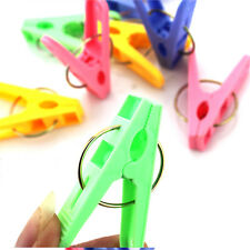 20PCS Plastic Laundry Clothes Pins Hangers Spring Clamp Clips LU