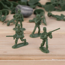100pcs Military Plastic Toy Soldiers Army Men Figures 12 Poses Gift LU