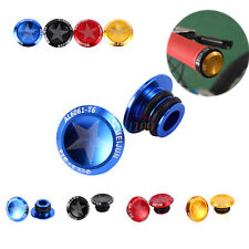 2X Road MTB Bike Bicycle Alloy Grip Handlebar End Plugs Stoppers Caps Covers ZY