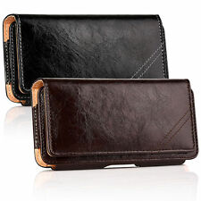 """Classic Leather Belt Clip Pouch Holster Carrying Case for iPhone 4.7"""" / 5.5"""" US"""
