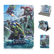 "Universal 7"" Tablet PC New NINJA TURTLE Moive Kids Cartoon PU Leather Cover case"