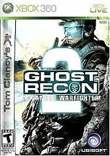 Tom Clancy's Ghost Recon: Advanced Warfighter 2 (Xbox 360, 2007) GAME COMPLETE