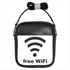 Free WiFi Sign Leather Sling Bag & Mini Coin Purse (Crossbody Shoulder)
