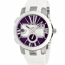Ulysse Nardin Executive Dual Time Auto 40mm MOP Dial Ladies Watch 243-10-3/30-07