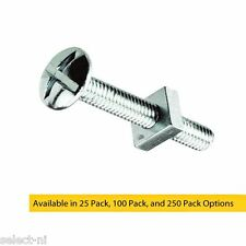 M5 x 12mm Bright Zinc Plated Roofing Bolts With Nut - Trunking, Guttering