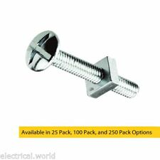 M6 x 100mm Bright Zinc Plated Roofing Bolts With Nut Ideal For Gutters, Trunking
