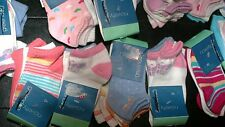 Girls GREENDOG 9 pairs Assorted Mix Ankle Socks XS 5 - 6.5 New NWT Free Shipping