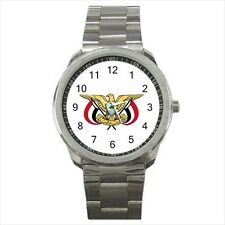 Emblem of Yemen Stainless Steel Sport Watch - Tabard Surcoat