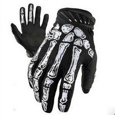 Fashion Cycling BikerI Motorcyle Skull Bone Skeleton Goth  Full Finger Gloves
